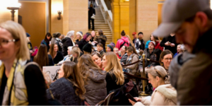 Minnesota citizens rally in 2019 to oppose a change in state law that would have limited their choices as parents.